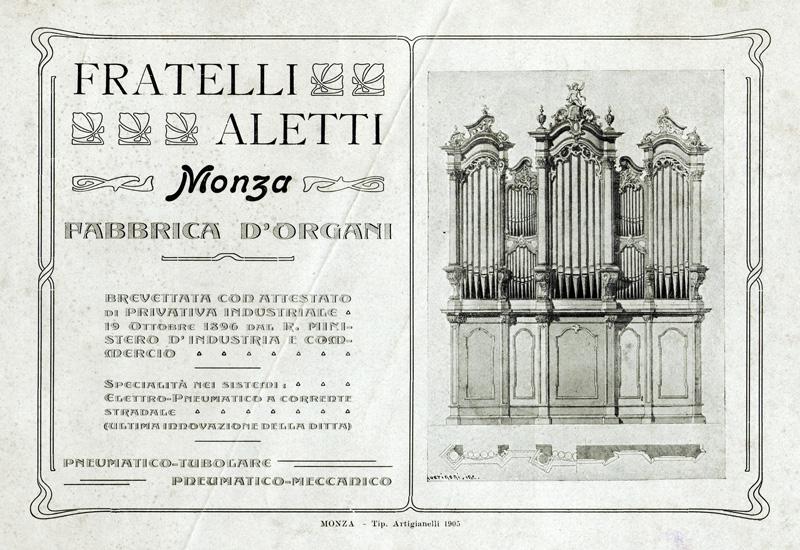 Fratelli Aletti Monza Fabbrica d'Organi