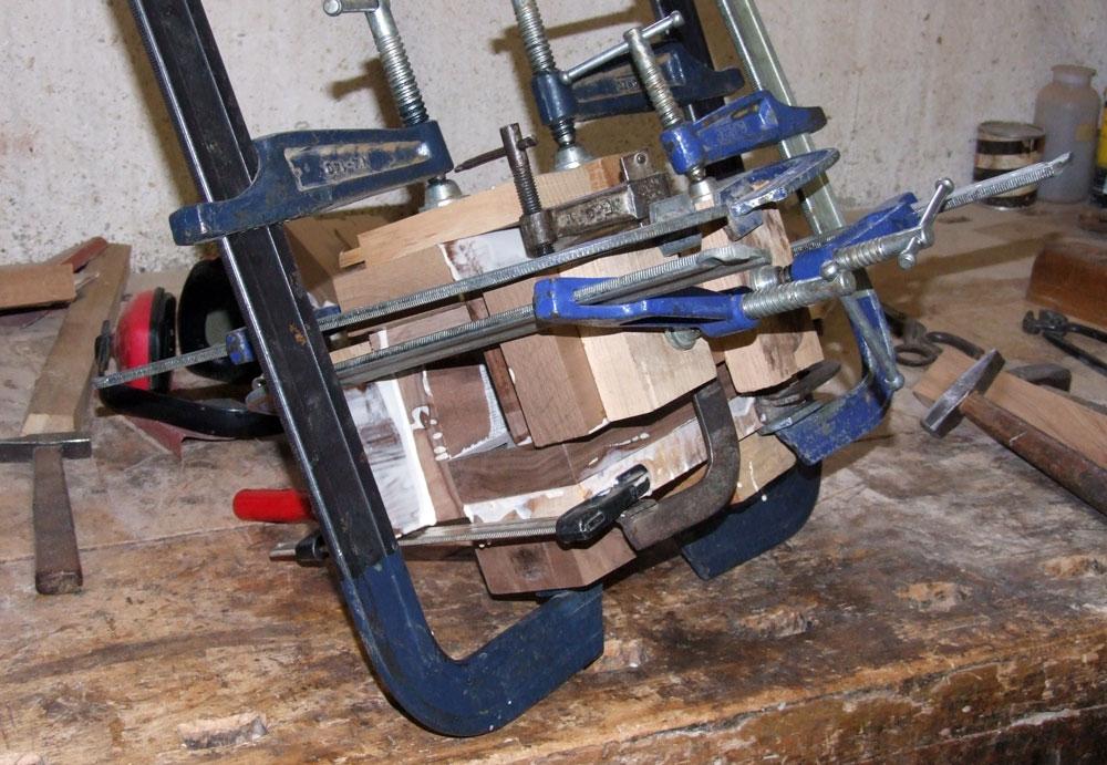 costruzione del piede tronco-conico