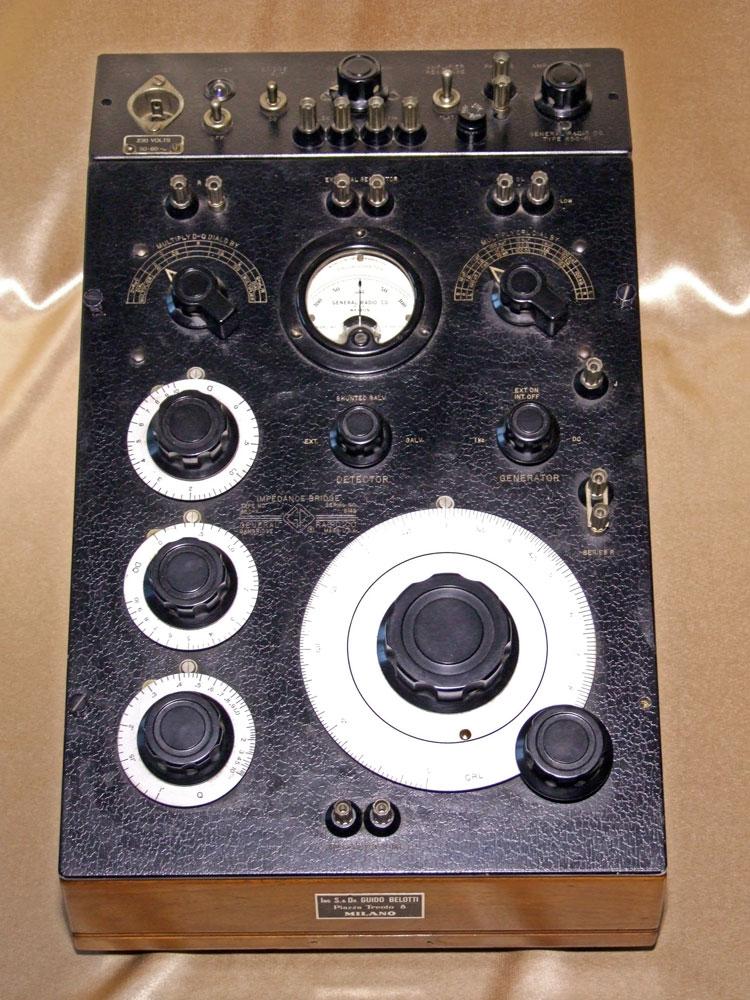 Ponte di misura R.C.L. General Radio mod. 650-A - visione frontale