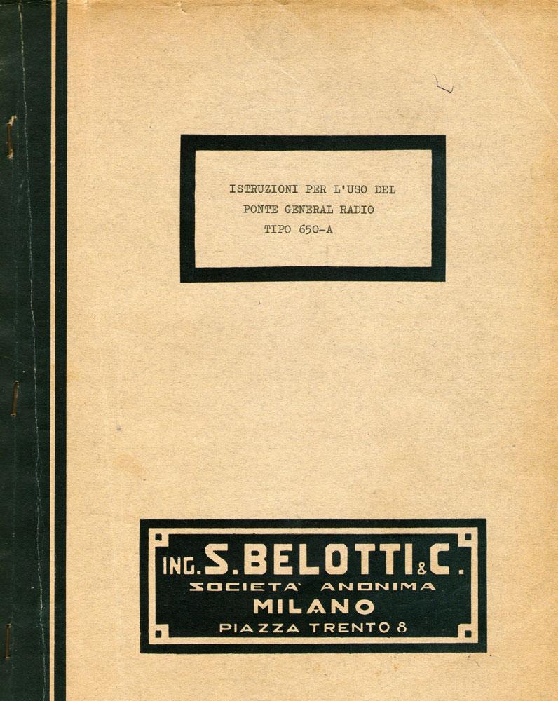 Ponte di misura R.C.L. General Radio mod. 650-A - libretto schemi elettrici