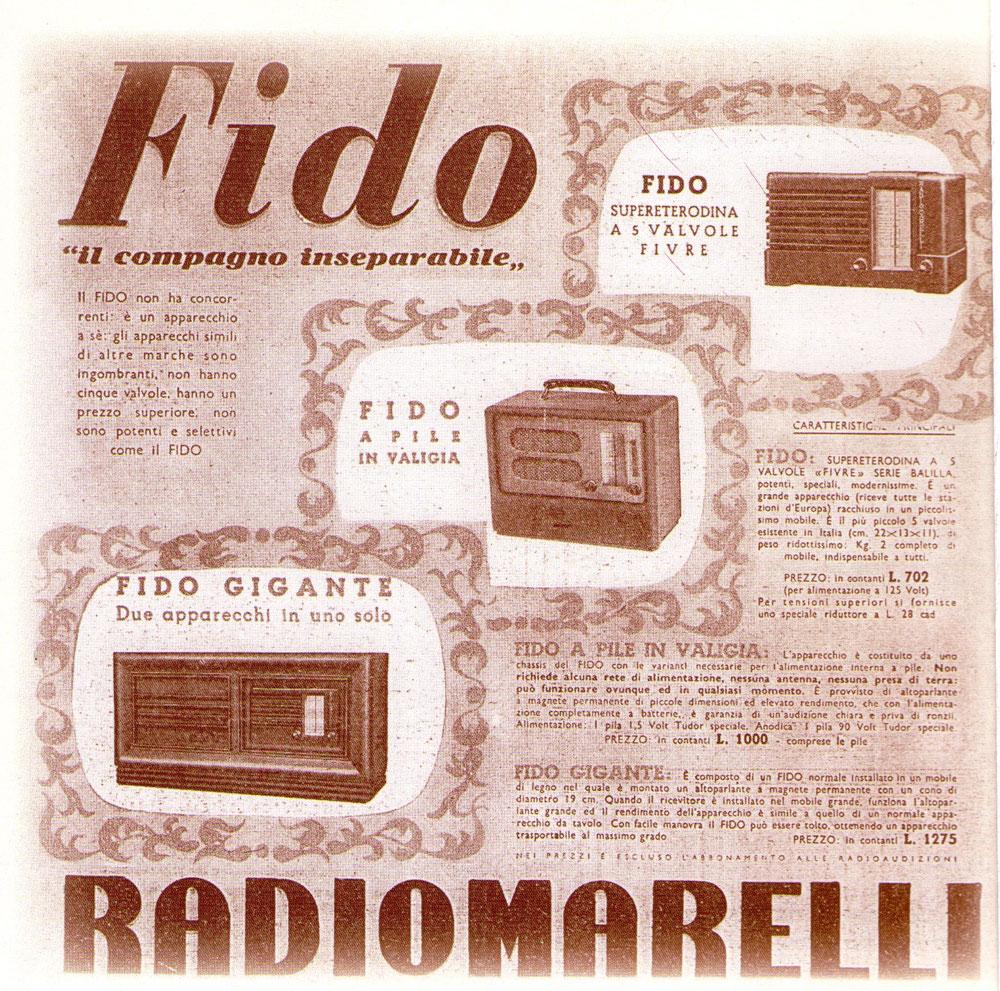 Pubblicità RadioMarelli Fido