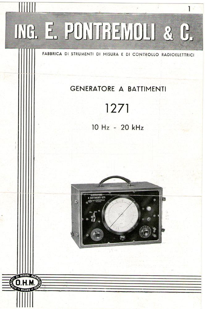 Generatore di frequenza O.H.M. mod. 1271 - pubblicità