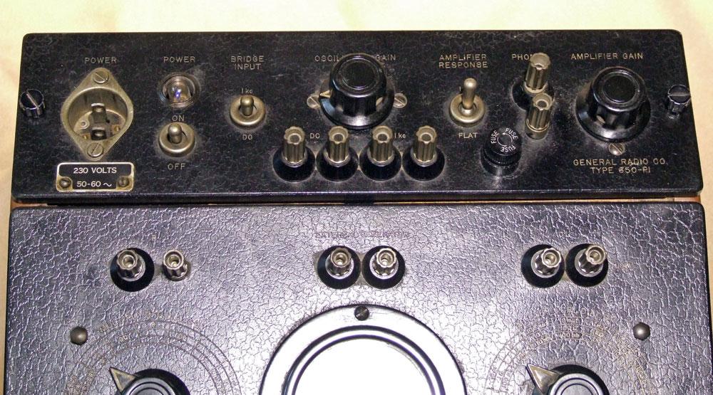 Ponte di misura R.C.L. General Radio mod. 650-A - alimentatore/oscillatore campione