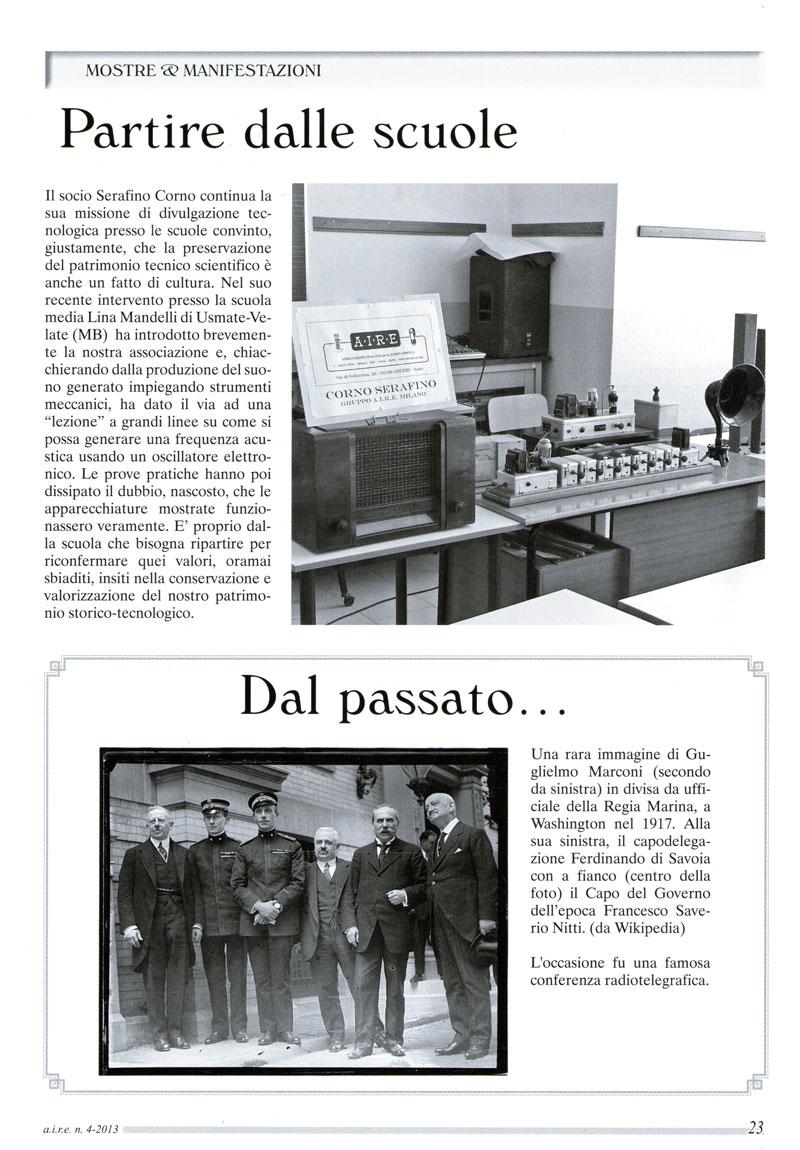 A.I.R.E. nella scuola. Articolo pubblicato dalla rivista