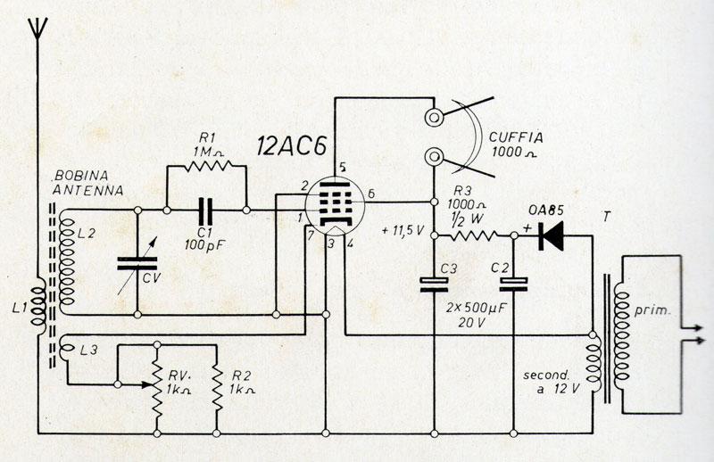 Schema Elettrico Auto : La mia prima radio a valvole auto costruita