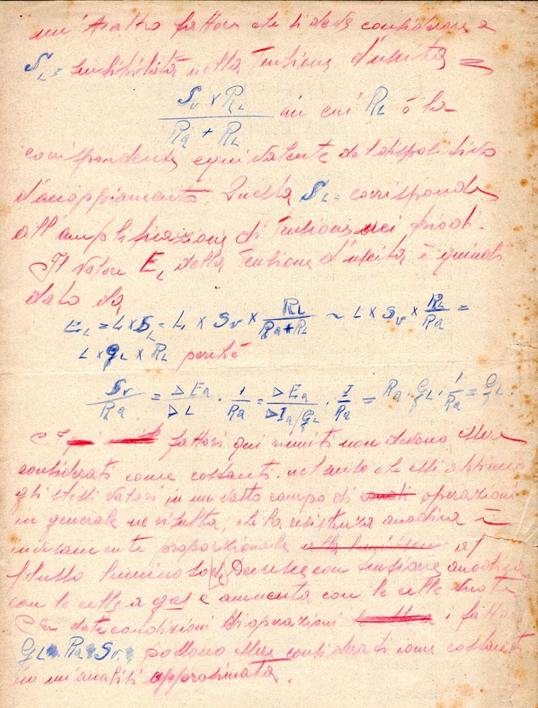 Fig.4--certificato di collaudo manoscritto