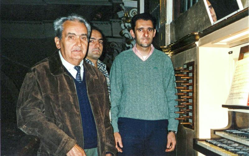 La ditta Corno al completo; da sinistra Alessandro Corno, Donato Corno e Antonio Corno.
