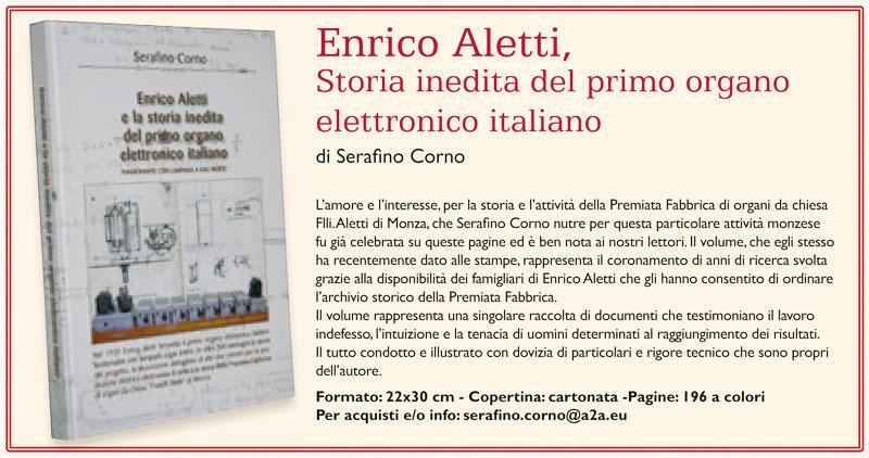 """Recensione di """"Enrico Aletti, storia inedita del primo organo elettronico italiano."""
