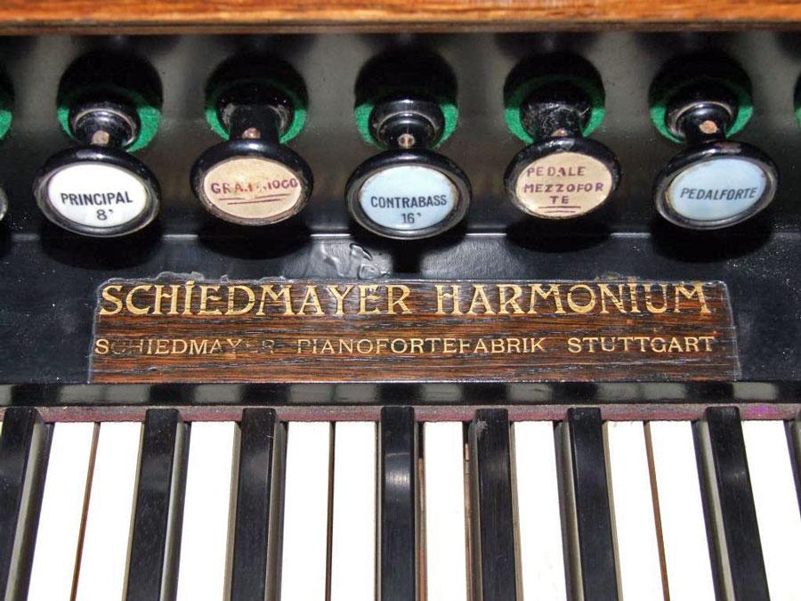 Harmonium Schiedmayer in vendita, dettaglio