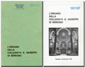 Libretto organo della Collegiata S.Giuseppe di Seregno - copertina