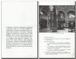 Libretto organo della Collegiata S.Giuseppe di Seregno - pag. 2, 3