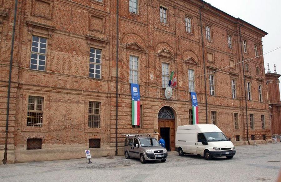 Fig.2 Uno scorcio di Palazzo Grosso al nostro arrivo.