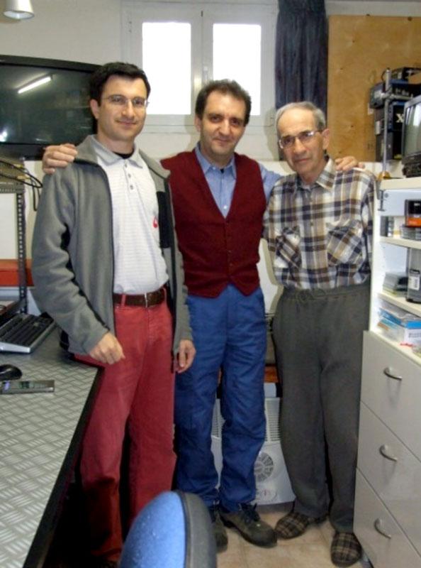 Figura 8. Serafino Corno con Egidio e Mario Calloni