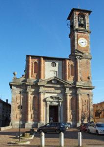 Facciata della chiesa Parrocchiale di Merate.