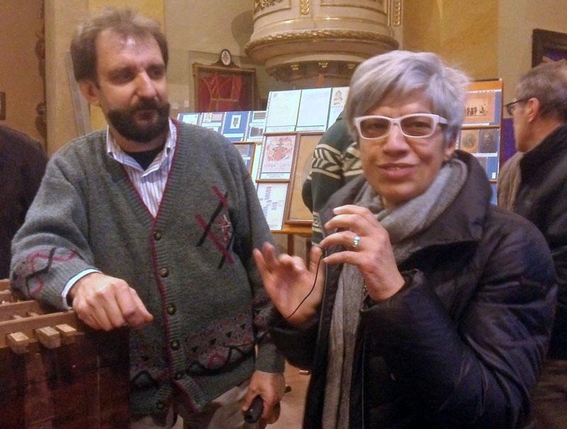 L'assessore alla cultura del comune di Merate Sig.ra Giusi Spezzaferri