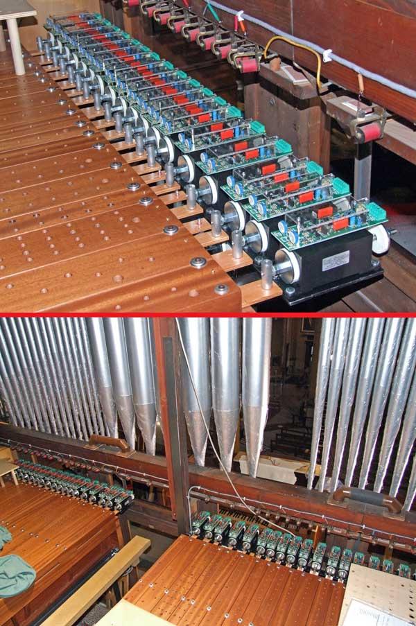 Rimontaggio dei somieri maestri del Grand'Organo.
