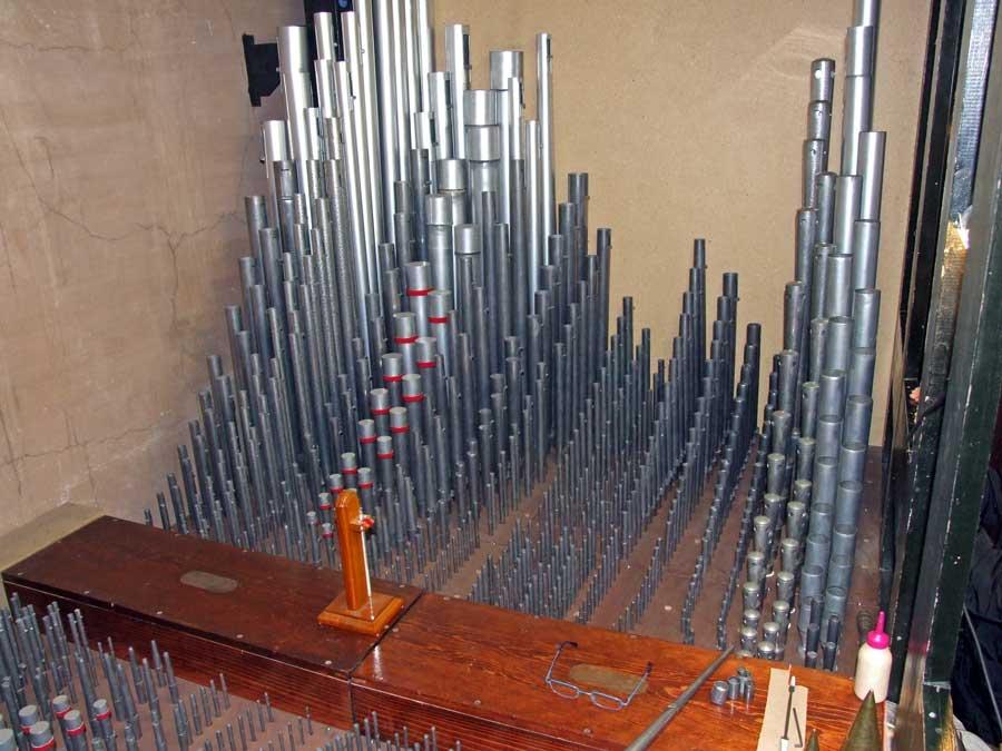 Pulitura generale, intonazione ed accordatura dell'organo Espressivo-Positivo.