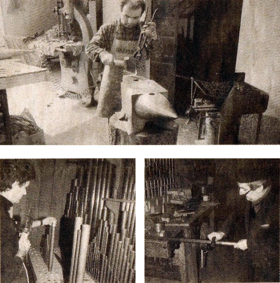 Immagini della bottega organaria Alessandro Corno di Arcore