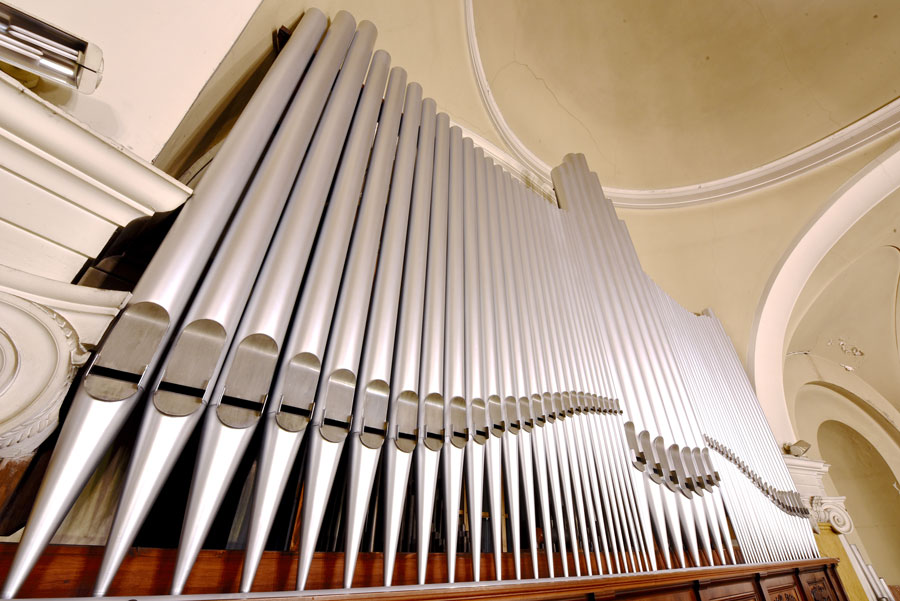 Canne di facciata del Grand'organo (foto Francesco Viganò)