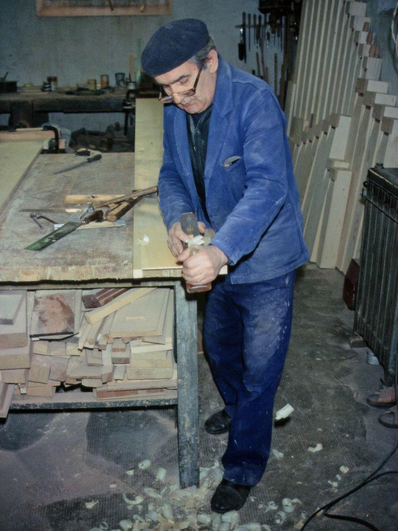 Alessandro Corno al lavoro