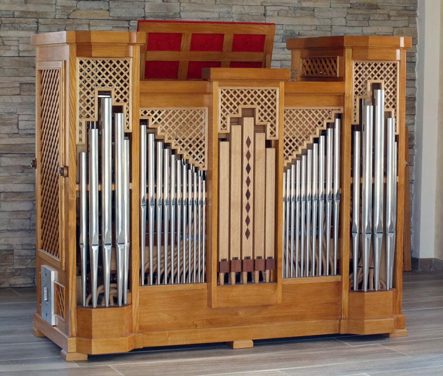Piccolo organo positivo da studio a trasmissione meccanica progettato e costruito nel 2012