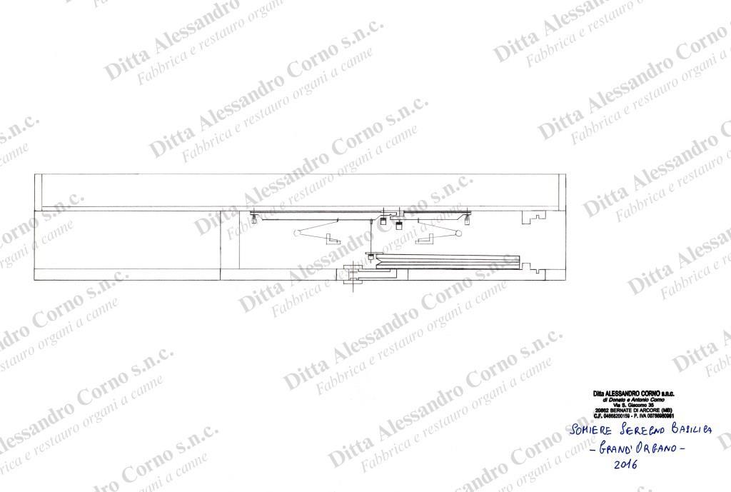 Bozza per la costruzione dei nuovi somieri del Grand'Organo della Basilica di Seregno (MB)