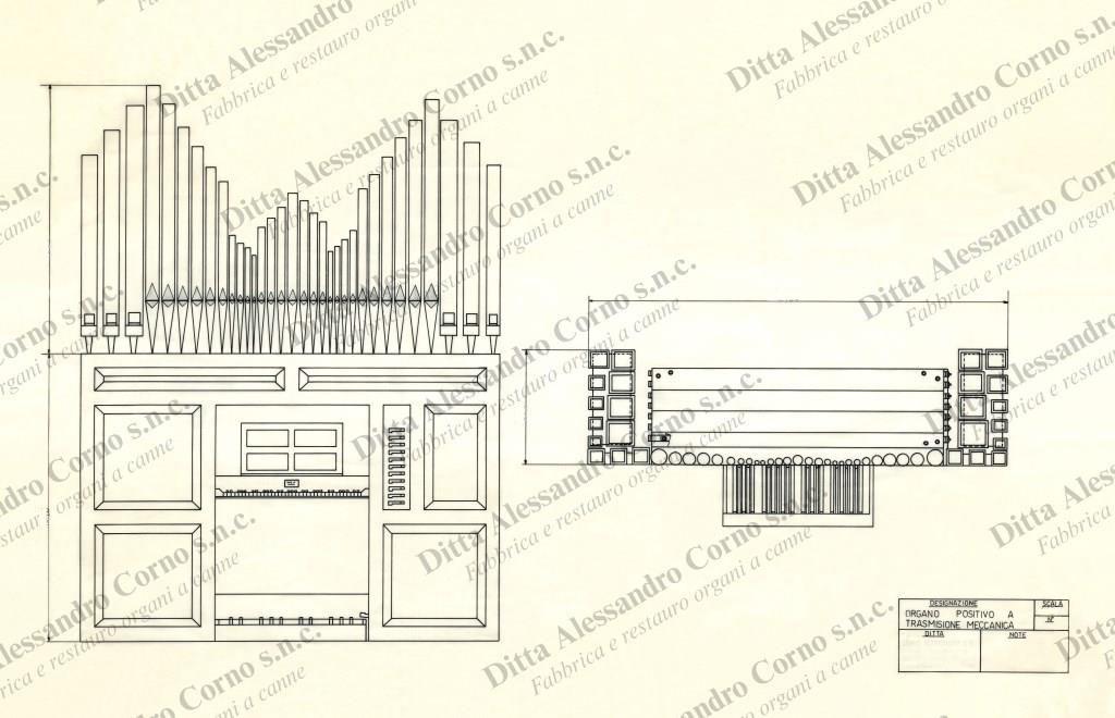 Progetto esecutivo del nuovo organo costruito per il Sig. Emilio Proserpio di Vergo Zoccorino