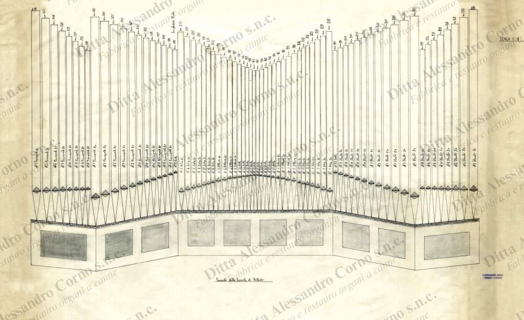 Il secondo progetto presentato al Parroco di Belledo (LC); era stato scelto dalla parte committente quale progetto esecutivo.