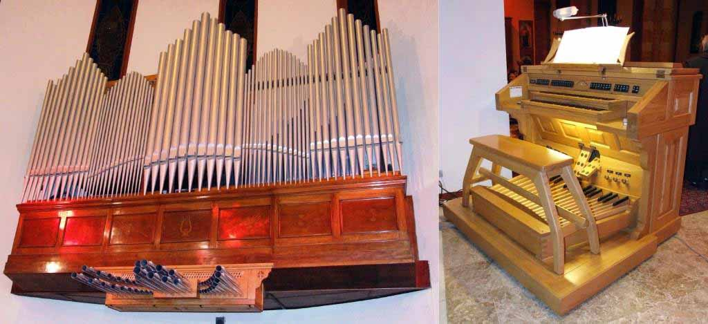 L'organo della Chiesa del Convento dei Carmelitani di Monza ripreso al termine dei lavori di riqualificazione del 2008