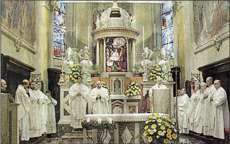 I sacerdoti meratesi alla Messa di Sant'Ambrogio