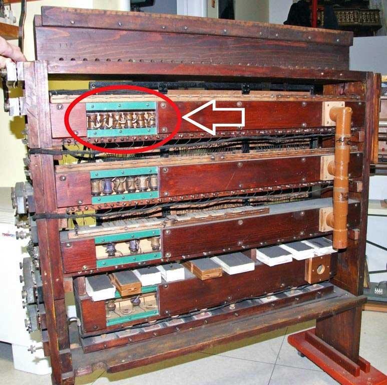 L'apparecchiatura in esame vista dal lato elettromagneti;