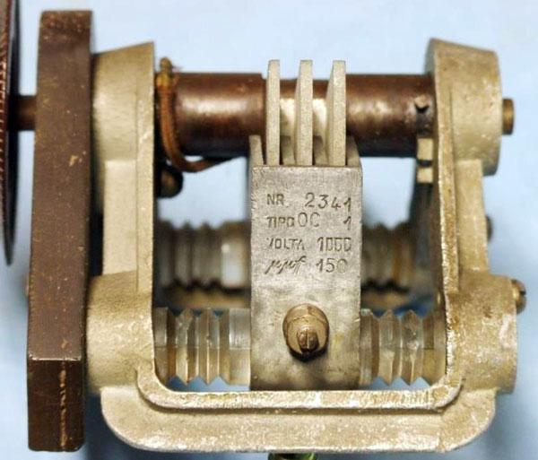 condensatore variabile (dettaglio)