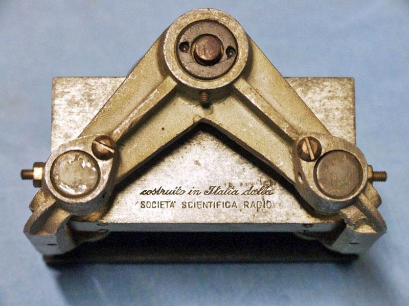 parte retrostante del condensatore variabile