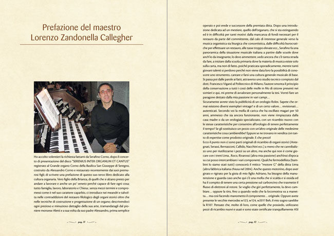 L'arte organaria - Prefazione del maestro Lorenzo Zandonella Callegher