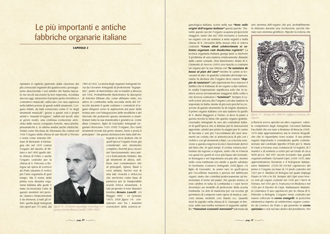 L'arte organaria - Le più importanti e antiche fabbriche organarie italiane - capitolo 2