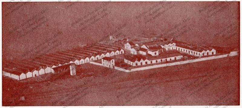 """Figura 5 - Immagine aerea con il sito industriale della ditta """"Tubi"""": notissima fabbrica Nazionale di armonium che a quei tempi aveva gli stabilimenti produttivi nella città di Lecco."""