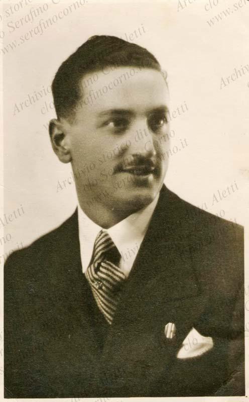 Figura 9 - Il venticinquenne Enrico Aletti in una fotografia scattata nel 1935.