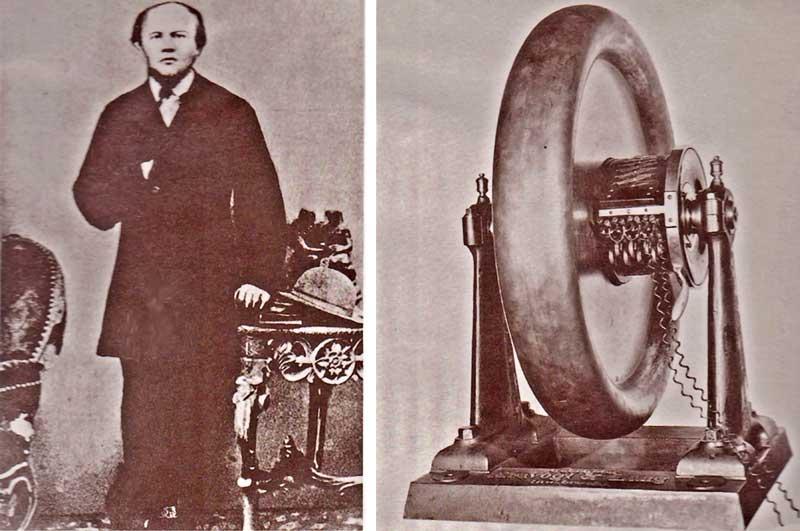 """Johann Kravogl (1823-1889) l'inventore della """"ruota elettrica"""" e la sua """"ruota elettrica"""""""