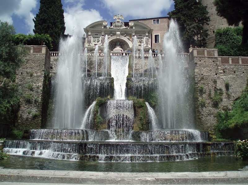 """L'effetto chiamato """"Diluvio"""" della fontana dell'organo di Tivoli"""