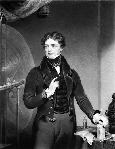Il fisico inglese Michael Faraday (1791-1867)